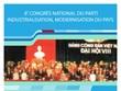 8e Congrès national du Parti : Industrialisation, modernisation du pays