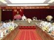 Vo Van Thuong, Permanent du Secrétariat du Parti, travaille avec les autorités de Vinh Phuc