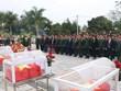 Dien Bien : Inhumation des restes de 15 soldats tombés au Laos