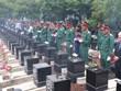 Binh Phuoc : Inhumation des restes de 10 soldats volontaires vietnamiens