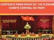 Les contenus principaux du 15e plénum du Comité central du Parti