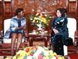 La vice-présidente Dang Thi Ngoc Thinh reçoit la secrétaire générale de l'OIF