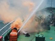Vietnam-Inde : exercice de sauvetage en mer