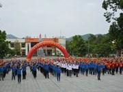 Les jeunes de Cao Bang et du Guangxi à un festival de l'amitié
