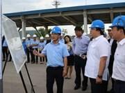 Mise en chantier du port international de l'aciérie de Nghi Son