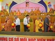 Une antenne de l'Académie de bouddhisme du Vietnam mise en chantier à Hue