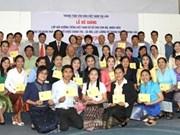 Une classe de langue vietnamienne pour des cadres et fonctionnaires laotiens
