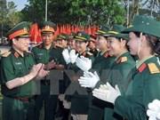Cours d'anglais pour des officiers vietnamiens