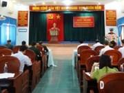 Kon Tum : inhumation des restes de 90 soldats tombés au champ d'honneur