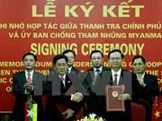 Le Vietnam et le Myanmar renforcent leur coopération contre la corruption