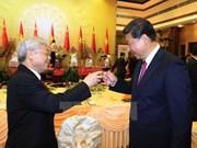 Réception en l'honneur du président chinois Xi Jinping