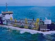 Mise à l'eau de la drague TSHD 2000 à Da Nang