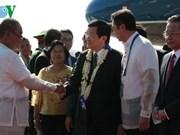 Truong Tan Sang arrive à Manille pour participer au 23e Sommet de l'APEC