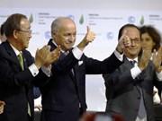 COP21 : adoption de l'Accord de Paris sur les changements climatiques