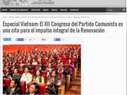 La presse argentine parle du 12e Congrès national du Parti