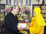 Le président du CC du FPV formule ses vœux du Têt au vénérable Thich Pho Tue