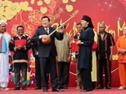 Le président Truong Tan Sang à la fête ''Les couleurs du printemps dans tout le pays''