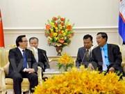 Des dirigeants cambodgiens reçoivent l'envoyé spécial du leader du PCV
