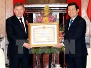 Le président de la Cour suprême russe décoré par Truong Tan Sang