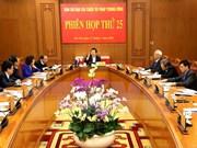 25e réunion de la Commission centrale de pilotage de la réforme judiciaire