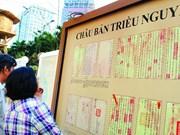 Exposition sur les Châu ban de la dynastie des Nguyên à Huê
