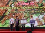 La ville de Cân Tho a son premier district néo-rural