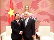 Un vice-président de l'AN reçoit le ministre laotien de la Justice