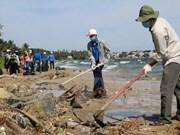 """Coup d'envoi du programme """"Dimanche vert"""" et """"Nettoyons la mer"""" à Binh Thuan"""