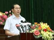 Le président Trân Dai Quang à l'écoute des électeurs de Hô Chi Minh-Ville