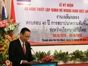 Célébration des 40 ans des relations diplomatiques Vietnam-Thaïlande à Ho Chi Minh-Ville