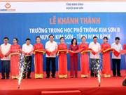 Le chef de l'État à la cérémonie d'inauguration des lycées à Ninh Binh