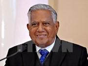 Décès de l'ex-président S.R. Nathan  : condoléances à Singapour