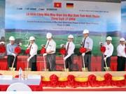 Ninh Thuan : mise en chantier de la centrale éolienne de Mui Dinh
