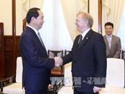 Le président Tran Dai Quang reçoit l'ambassadeur du Canada