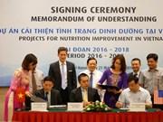 Signature des projets d'amélioration de la nutrition au Vietnam pour la période 2016-2018