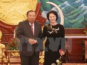 La présidente de l'AN du Vietnam rencontre le leader du Parti populaire révolutionnaire du Laos