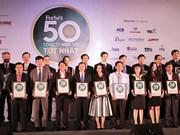 Honneur aux 50 meilleures sociétés cotées en Bourse en 2016