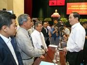 Le président Trân Dai Quang rencontre les entrepreneurs de Hô Chi Minh-Ville
