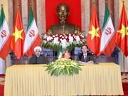 Le président iranien termine sa visite d'Etat au Vietnam