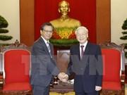 Le secrétaire général du PCV reçoit l'ambassadeur du Japon au Vietnam
