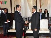 Le président Tran Dai Quang reçoit l'ambassadeur palestinien