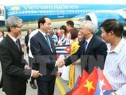 Le président Tran Dai Quang en visite officielle à Cuba