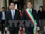 Le président Trân Dai Quang rencontre les responsables de Milan et de Lombardie