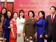 Nguyen Thi Kim Ngan rencontre des Vietnamiens aux Émirats arabes unis
