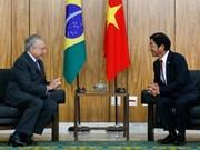 Vietnam et Brésil souhaitent intensifier leur partenariat intégral