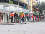 La capitale Hanoi au petit matin du Jour de l'An