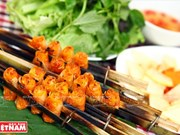 Cha tôm nuong de Thanh Hoa, un plat délicieux