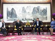 Entrevue entre le président chinois et le roi cambodgien