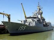 Un navire de la Marine royale australienne  à Da Nang