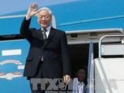 Le secrétaire général du PCV Nguyen Phu Trong part pour l'Indonésie et le Myanmar